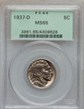 Buffalo Nickels: , 1937-D 5C MS65 PCGS. PCGS Population (3652/1716). NGC Census:(1320/1917). Mintage: 17,826,000. Numismedia Wsl. Price for p...