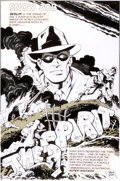 Original Comic Art:Splash Pages, Steve Stiles The Spirit Try-Out Splash Page Original Art(undated)....