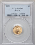 Modern Bullion Coins: , 1998 G$5 Tenth-Ounce Gold Eagle MS69 PCGS. PCGS Population(3232/119). NGC Census: (4975/1726). Numismedia Wsl. Price for ...