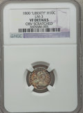 Early Half Dimes: , 1800 H10C LIBEKTY -- Obv Scratched -- NGC Details. VF. LM-3. NGCCensus: (1/37). PCGS Population (3/41). Numismedia Wsl. ...