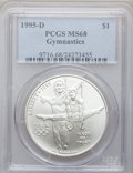 Modern Issues, 1995-D $1 Olympic/Gymnastics Silver Dollar MS68 PCGS. PCGSPopulation (84/2083). NGC Census: (15/1358). Numismedia Wsl. Pr...