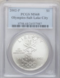 Modern Issues, 2002-P $1 Olympics Salt Lake City Silver Dollar MS68 PCGS. PCGSPopulation (30/2317). NGC Census: (12/1392). Numismedia Ws...