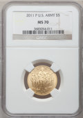 Modern Issues, 2011-P $5 U.S. Army Five Dollar MS70 NGC. NGC Census: (0). PCGSPopulation (117). (#506170)...