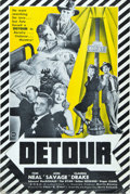 "Movie Posters:Film Noir, Detour (PRC, 1945). Uncut Pressbook (8 Pages, 12"" X 18"") and Herald(11.5"" X 17"").. ... (Total: 2 Items)"