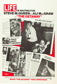 "The Getaway (National General, 1972). One Sheet (27"" X 41"") Life Magazine Advance Style. Action"