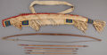 American Indian Art:Beadwork and Quillwork, A SIOUX BEADED HIDE BOWCASE AND QUIVER. c. 1880... (Total: 6 Items)