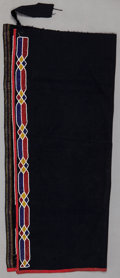 American Indian Art:Beadwork and Quillwork, AN OTOE MAN'S BEADED CLOTH LEGGING. c. 1910...