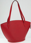 Luxury Accessories:Bags, Louis Vuitton Red Epi Leather St Jacques Tote Bag. ...