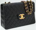 Luxury Accessories:Bags, Chanel Black Quilted Lambskin Leather Maxi Flap Bag with GoldHardware. ...