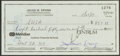 Basketball Collectibles:Others, Julius Dr. J Erving Signed Check. ...