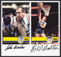 Basketball Collectibles:Photos, Bill Walton and John Wooden Multi Signed Display....