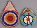 American Indian Art:Beadwork and Quillwork, TWO PLAINS BEADED HIDE WATCH CASES ... (Total: 2 Items)