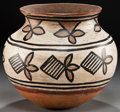 American Indian Art:Pottery, A TESUQUE POLYCHROME JAR. c. 1890...
