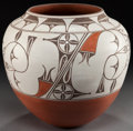 American Indian Art:Pottery, A ZIA POLYCHROME JAR. Helen Gachupin. c. 1980...