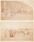 American Indian Art:Photographs, VIEWS OF CROW AGENCY, MONTANA, LOT OF FOUR PHOTOS, PHOTOGRAPHER(S)UNIDENTIFIED... (Total: 4 Items)