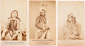 American Indian Art:Photographs, MINNESOTA SIOUX UPRISING OF 1862, LOT OF THREE CARTE-DE-VISITEPHOTOS BY JOEL E. WHITNEY, ST. PAUL, MINNESOTA... (Total: 3 Items)