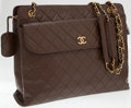 Luxury Accessories:Bags, Chanel Brown Lambskin Leather Quilted Shoulder Bag with GoldHardware. ...