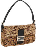 Luxury Accessories:Bags, Fendi Leopard Pony Hair Baguette Shoulder Bag. ...