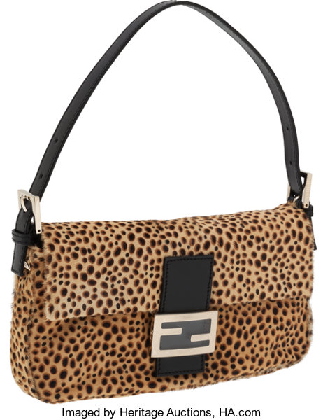 Fendi Leopard Pony Hair Baguette Shoulder Bag. ... Luxury  14ee751e619f9