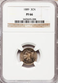 Proof Three Cent Nickels: , 1889 3CN PR66 NGC. NGC Census: (224/49). PCGS Population (248/51).Mintage: 3,436. Numismedia Wsl. Price for problem free N...
