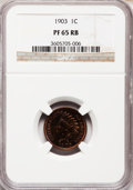 Proof Indian Cents: , 1903 1C PR65 Red and Brown NGC. NGC Census: (84/34). PCGS Population (42/7). Mintage: 1,790. Numismedia Wsl. Price for prob...
