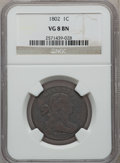 Large Cents, 1802 1C VG8 Brown NGC. NGC Census: (10/314). PCGS Population(7/398). Mintage: 3,435,100. Numismedia Wsl. Price for problem...