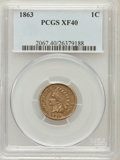 Indian Cents: , 1863 1C XF40 PCGS. PCGS Population (18/2710). NGC Census: (26/3828). Mintage: 49,840,000. Numismedia Wsl. Price for problem...