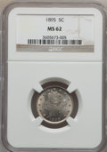 Liberty Nickels, 1895 5C MS62 NGC. Include: W/p. NGC Census: (32/259). PCGSPopulation (37/297). Mintage: 9,979,884. Numismedia Wsl. Price f...