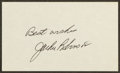 Autographs:Index Cards, Jackie Robinson Signed Index Card. ...