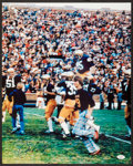 Football Collectibles:Photos, Rudy Ruettiger Signed Oversized Photograph....