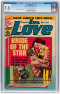 Golden Age (1938-1955):Romance, In Love #1 (Mainline, 1954) CGC FN/VF 7.0 Cream to off-whitepages....