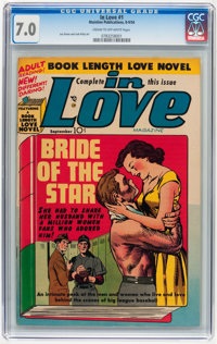 In Love #1 (Mainline, 1954) CGC FN/VF 7.0 Cream to off-white pages