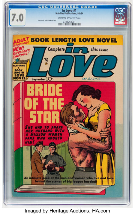 In Love #1 (Mainline, 1954) CGC FN/VF 7.0 Cream to off-white pages....