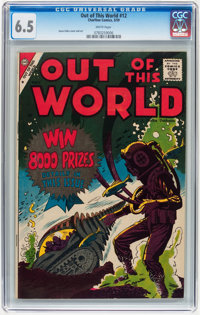 Out of This World #12 (Charlton, 1959) CGC FN+ 6.5 White pages