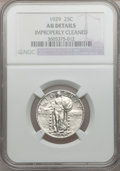 Standing Liberty Quarters: , 1929 25C -- Improperly Cleaned -- NGC Details. AU. NGC Census:(2/652). PCGS Population (24/1004). Mintage: 11,140,000. Num...