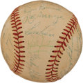 Autographs:Baseballs, 1966 Houston Astros Team Signed Baseball with Neil Armstrong....