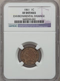 Indian Cents: , 1861 1C -- Environmental Damage -- NGC Details. XF. NGC Census:(12/1654). PCGS Population (24/1240). Mintage: 10,100,000. ...