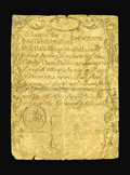 Colonial Notes:Massachusetts, Massachusetts December 7, 1775 3s4d Fine. There are a number ofrestorations at the edges and along the folds. The two upper...