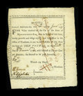 Colonial Notes:Massachusetts, Massachusetts January 28, 1777 £10 Bounty Note Anderson MA-6 VeryFine....