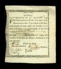 Colonial Notes:Massachusetts, State of Massachusetts Bay £40 6% Feb. 17, 1779 Anderson MA-4....
