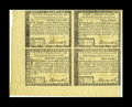 Colonial Notes:Rhode Island, Rhode Island July 2, 1780 $8-$20-$3-$4 Very Choice New Uncut Sheet.A well preserved four-note sheet that lacks the guaranty...