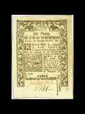 Colonial Notes:Rhode Island, Rhode Island May 1786 6d Gem New. This is a beautiful note with bold embossing and wide margins. The paper has aged slightly...