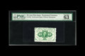 Fractional Currency:First Issue, Fr. 1241 10c First Issue PMG Choice Uncirculated 63 EPQ. A veryinteresting note indeed that is well perforated with excelle...