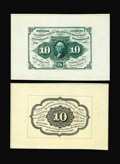 Fractional Currency:First Issue, Fr. 1243SP 10c First Issue Wide Margin Pair Choice About New. Boththe face and back have some handling, with the face also ...(Total: 2 notes)