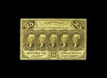 Fractional Currency:First Issue, Fr. 1280 25c First Issue Very Choice New. Deep and original embossing is clearly evident on this much scarcer no monogram no...