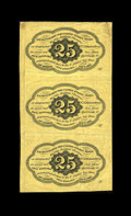 Fractional Currency:First Issue, Fr. 1281 25c First Issue Vertical Strip of Three Extremely Fine. This is a very attractive vertical strip of three notes whi... (Total: 3 notes)