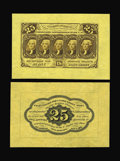 Fractional Currency:First Issue, Fr. 1282SP 25c First Issue Wide Margin Pair Superb Gem New. Abeautiful face-and-back pair, perfectly matched for size. Supe...(Total: 2 notes)