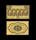 Fractional Currency:First Issue, Fr. 1282SP 25¢ First Issue Narrow Margin Pair Choice About New. Both sides were once mounted and for the most part they were... (Total: 2 notes)