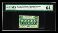 Fractional Currency:First Issue, Fr. 1310 50c First Issue PMG Choice Uncirculated 64 EPQ. Three of the four margins on this perforated and monogrammed issue ...