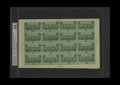 Fractional Currency:First Issue, Fr. 1312 50c First Issue Complete Sheet of Sixteen PMG ChoiceUncirculated 64. Minor problems at the outer edges seem to hav...
